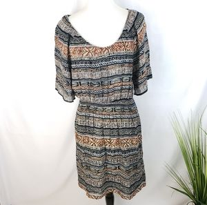 ♦️2/$15 Urban Renewal Boho Print Up-cycled Dress M